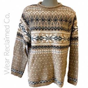 🛍 3/$30 Croft & Barrow Sweater Cotton Wool Blend